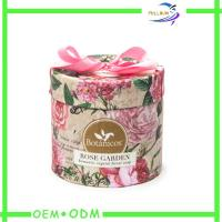 Wholesale Luxury Pink Round Soap Gift  Box Matt Lamination With Riband from china suppliers
