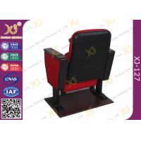 Quality Black Double Leg Concert Hall Auditorium Chairs Plywood Armrest For Interior for sale