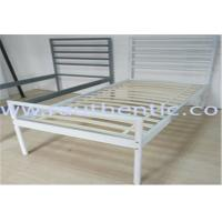 Wholesale Simple and Sturdy metal bed, color customzied and single size, easy to assemble from china suppliers