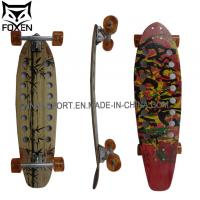 Quality 34*9.6 inch glass fiber Longboard with High Quality bamboo skateboard LD-180 for sale