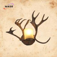 Wholesale Maso MS-W2008 Antler Art Design Wall Sconce Lamp Retro Style for Villa Hotel Cloth Shop Decoration CCT2300k LED Bulb from china suppliers