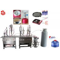 Wholesale Semi Automatic Cartridge Butane Gas Refilling Machine , Aerosol Can Filling Machine from china suppliers