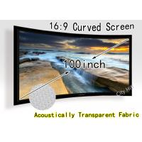 Wholesale DIY Fixed Frame Curved Projection Screen , Widescreen 16 X 9 for Home Theatre from china suppliers