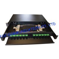 Wholesale Drawer Type Fiber Optic Distribution Box 1U 12Ports Full Loaded With SC Pigtail from china suppliers
