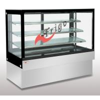 Wholesale Square Glass Cake Display Case Orchid LED Light Custom Refrigerated Display Cases from china suppliers