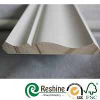 Buy cheap Primed finger joint wood pine flooring baseboard door casing ceiling crown moulding from wholesalers
