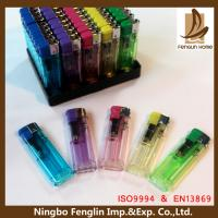 Wholesale Personalized Transparent Flame Refillable Cigarette Lighter For Mens from china suppliers