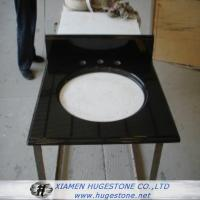 Wholesale Absolute Black Sink Countertop, Black Granite Sink Countertop from china suppliers