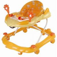 Wholesale Luxury folding Adjustable Baby Walker Safety with Wheels , Orange from china suppliers