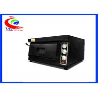 Wholesale Commercial baking machine electric pizza oven single deck black color from china suppliers