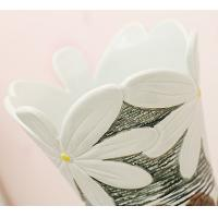 Quality Ceramic three-piece home furnishing articles vase handmade chrysanthemum for sale