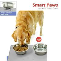 Magic pet silicon mat yi le pet products SPILL RESISTANT PET FOOD MAT for pet bowl cannot move when pets eatting