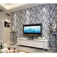 Wholesale Modern Living Room 3D Suede Wallpaper 0.53*10M Geometric Design Wallcovering Exported from china suppliers