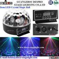 Wholesale RGB 3W Led Crystal Magic Ball Light DMX 512 Karaoke Strobe Lighting from china suppliers