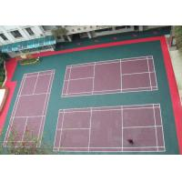 Wholesale Environmental-friendly Anti-slip Green Modular Floor , Recycled Plastic futsal Flooring from china suppliers