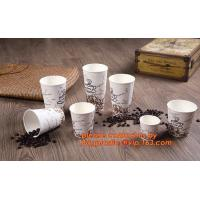 Wholesale Food use disposable plastic paper cup and coffee lids, pla cups,biodegradable paper cups with lids,100% compostable pape from china suppliers