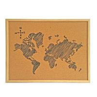 Wholesale Fashion Cork Board Memo Board with MDF Fame for Office or School from china suppliers
