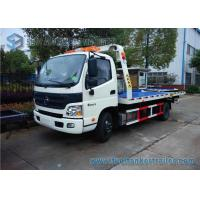 Wholesale White Single Cab Foton Auman 5T Truck Blue Platform Car Carrier LHD from china suppliers