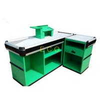 Wholesale Custom Green Cashier Checkout Display Counter For Retail Store / Supermarket from china suppliers