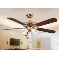 Wholesale Electroplated Rose Gold Modern Ceiling Fan Light Fixtures with Iron , Acrylic from china suppliers