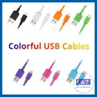 Wholesale Colored Micro Smartphone USB Data Transfer Cable Hi-Speed 2-in-1 from china suppliers