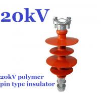 20kV Small Volume Polymer Pin Insulator , Safety Distribution Insulators