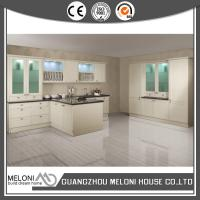 Wholesale White Modern Customized MDF Board Thermofoil Kitchen Cupboards With Stove from china suppliers