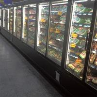 Wholesale 5 Layers Commercial Beverage Refrigerator Glass Door Upright Freezer For Retail Store from china suppliers