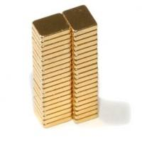Wholesale 5x4x1mm Rare earth neodymium block magent of ndfeb N52 Gold plated from china suppliers