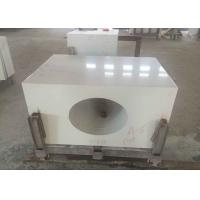 Quality Solid Color Natural Quartz Countertops , Custom Bathroom Quartz Countertops for sale