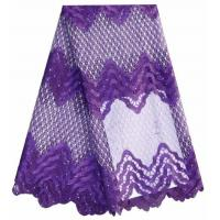 Two-color full lace new arrival luxury fabric ripple geometric lace fabric for beauty girl
