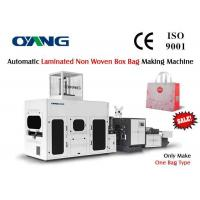 Wholesale Servo Motor Laminated Non Woven Carry Bag Making Machine Stable Speed 50 pcs / min from china suppliers