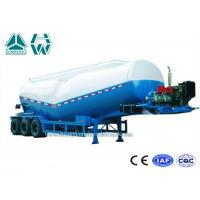 Wholesale Transport Bulk Cement Tank Semi Trailer with 45Kw Diesel Engine , Aluminum Alloy from china suppliers