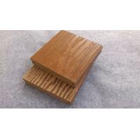 China Anti-Corrosion Grooves / Slot Wood Fiber / WPC Composite Decking For Pool on sale