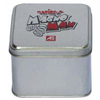 Wholesale Magno Man Mini Tin Cans With Sliver Body And Printed Cover , Square Tin Case from china suppliers