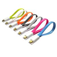 Wholesale Magnetic Flat Micro USB Male to USB 2.0 Male Data Sync / Charging Cable 20cm from china suppliers