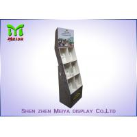 Wholesale Eye - Catching Magazines Cardboard Floor Display Stands , Cardboard Book Displays Shelves from china suppliers