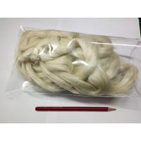 Wholesale Eco Friendly Weaving Spinning Hemp Short Fibres For Coarse Yarn 5NM / 8.5NM / 10.5NM from china suppliers