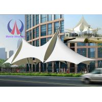Wholesale Multi Ridge Fabric Cable Metal Shade Structures , Outdoor Patio Sun Shade Sail Canopy from china suppliers