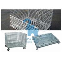 Wholesale Custom Wire Mesh Storage Boxes Wire Mesh Pallet Cages With Lage Volume from china suppliers