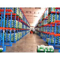 Wholesale 5000mm Drive Through Pallet Racking Blue / Orange Industrial Metal Shelving from china suppliers