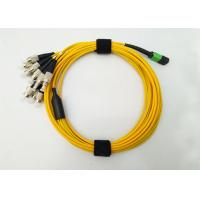 Wholesale MPO MTP APC to FC fiber optic patch cord  Fanout 12F cores 3.0mm to 2.0mm from china suppliers