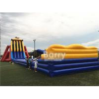 Wholesale EN14960 0.5mm PVC Giant Inflatable Slide 0.55mm / 18 Oz PVC Tarpaulin Durable from china suppliers