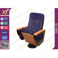 Wholesale Writing Tablet In Armrest Lecture Hall Seating Chairs With AC Outlet On Single Leg from china suppliers