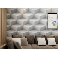 Wholesale Gray Colro 3D Home Wallpaper Removable , 3D Effect Geometric Modern Wallpaper from china suppliers
