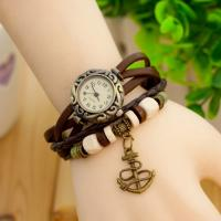 Wholesale Vintage Electronic Leather Quartz Watch with Analog Display from china suppliers