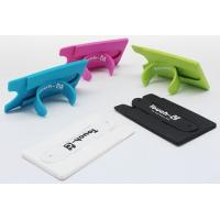 Wholesale 3M sticky silicone card holder with Slap stand, silicone card case with stand from china suppliers