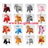 Wholesale CE hot sale battery operated motorized plush riding animals,panda electric scooter from china suppliers