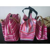 Wholesale Polyester Stripe Color Cooler Shoulder Bag Thermal Insulated Bag from china suppliers