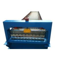China Sri Lanka 830 roller shutter door roll forming machine with 17 rows of rollers and 3kw  motor power on sale